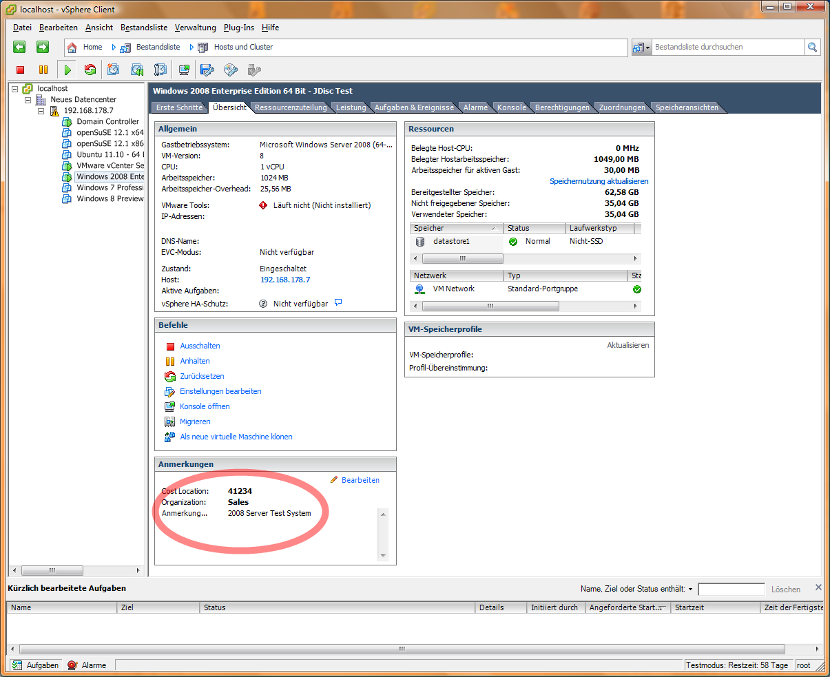 Custom Attributes within VMware's vCenter