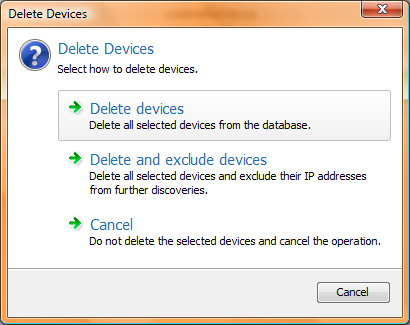 JDisc Discovery Delete Devices