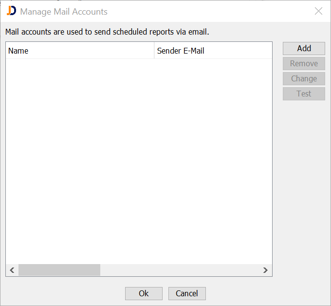 Manage Mail Accounts